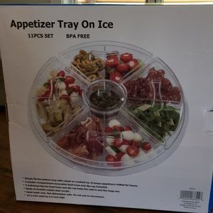 Appetizer tray with ice compartment